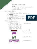 Lesson Plan in Mathematics 3