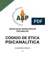 PSICANÁLISE - CÓDIGO DE ÉTICA