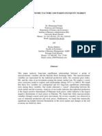 macroeconomic factors and pakistani equity market