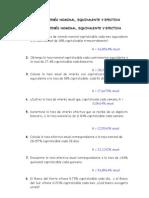 TASAS DE INTERÉS Nominal, equivalente y efectiva