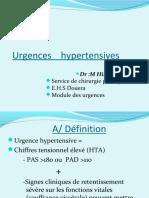 Cours de les urgences hypertensives .PDF