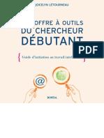 Le coffre à outils du chercheur débutant .. guide d'initiation au travail intellectuel - Jocelyn Létourneau et coll. (2006)