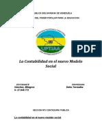 La Contabilidad en El Nuevo Modelo Social