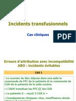 Incidents transfusionnels