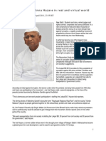 India Supports Anna Hazare in Real and Virtual World