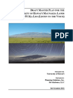 Draft Mauna Kea master plan