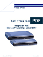 LTRT-35201 MP-11x & Microsoft Exchange Server Fast Track Guide Ver 5.0_1