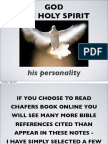 Holy Spirit Personality - Chafer, Walvoord