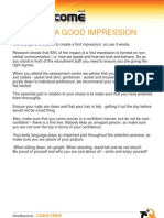 Creating A Good Impression