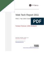 Web Tech 2011 Top 1000 Corporations