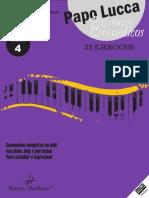Patrones Cromáticos. 32 Ejercicios. Marcos Burbano. Secuencias Completas en Midi Con Piano, Bajo y Percusion Para Estudiar e Improvisar LIBRO 4
