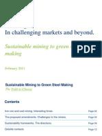 Sustainalble mining to green steel making