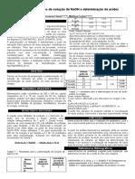 Relatório - Padronização e Acidez do vinagre