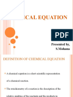 chemical equation(chemistry)
