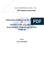 Transformation from GUIDE 62_66 to ISO 17021