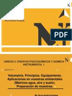 CLASE SEMANA N° 5 - Volumetría. Principios, tipos, equipamiento. Aplicaciones en muestras ambientales