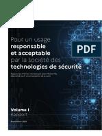 Pour un usage  responsable et acceptable  par la société des  technologies de sécurité