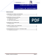 U.D. 4 Montaje y control de monitores