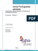 A Economia Portuguesa na Actualidade- Economia