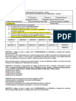 AVALIAÇÃO BIMESTRAL N2- 3º A- TEORIA GERAL DO PROCESSO- PROFª PRISCYLA QUIRINO