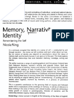 Nicola King. Memory, Narrative, Identity