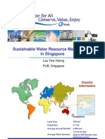 Sustainable Water Resource Management in Singapore