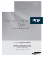 Manual Home Theater Samsung - HT-E550K_ZD