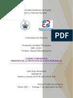 PRINCIPIOS DE LA PROTECCIÓN DE DATOS PERSONALES