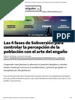 Las 4 fases de Subversión para controlar la percepción de la población con el arte del engaño _ El Investigador