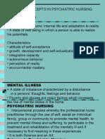 basic concept in psychiatric nursing