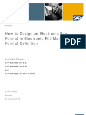 How to Design an Electronic Format in Electronic File Manager Format