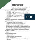 1 - Lista de Exercícios Grafos