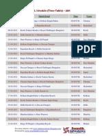 IPL Schedule- Timetable 2011