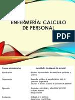 CALCULO DE PERSONAL EN ENFERMERIA