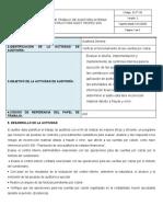 EI-FT-50 Formato Papel de Trabajo de Auditoria Interna - CUENTAS POR COBRAR