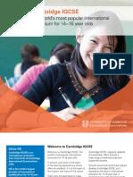 Cambridge IGCSE Brochure
