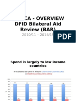 Analysis of DFID send in Africa