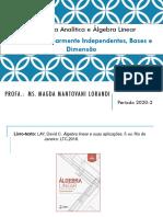 Slides- Conjuntos LI, bases e dimensão