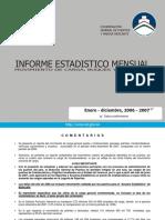 Informe estadístico mensual 2007.12