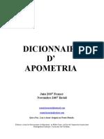 Apometria Fr Dictionnaire d'Apometria