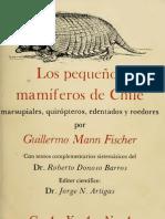 Los Pequeños Mamíferos de Chile - G. Mann (Universidad de Concepción, 1978)