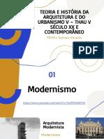 Aula 01 - introdução ao modernismo