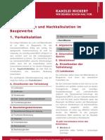 NICKERT Whitepaper Vorkalkulation und Nachkalkulation im Baugewerbe