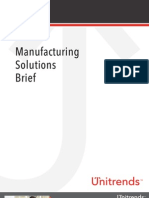 Manufacturing Solutions Brief