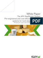 APV membrane systems for multi dairy applications