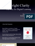 Copyright Clarity ISTE SIGTC 4-11