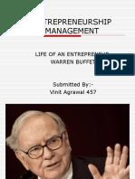 life of an entrepreneur warren buffet
