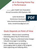2010 Presentation on Nursing Home Pay for Performance to Washington Health Care Association