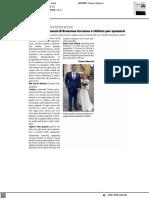 Ex studenti Erasmus lituani tornano a Urbino per sposarsi - Il Resto del Carlino del 12 settembre 2021