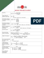 Akışkanlar Mekaniği Formülleri